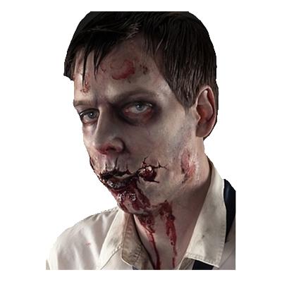 Skuren Zombiemun Protes Sminkset