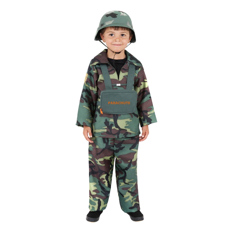 Soldat Barn Maskeraddräkt - Small