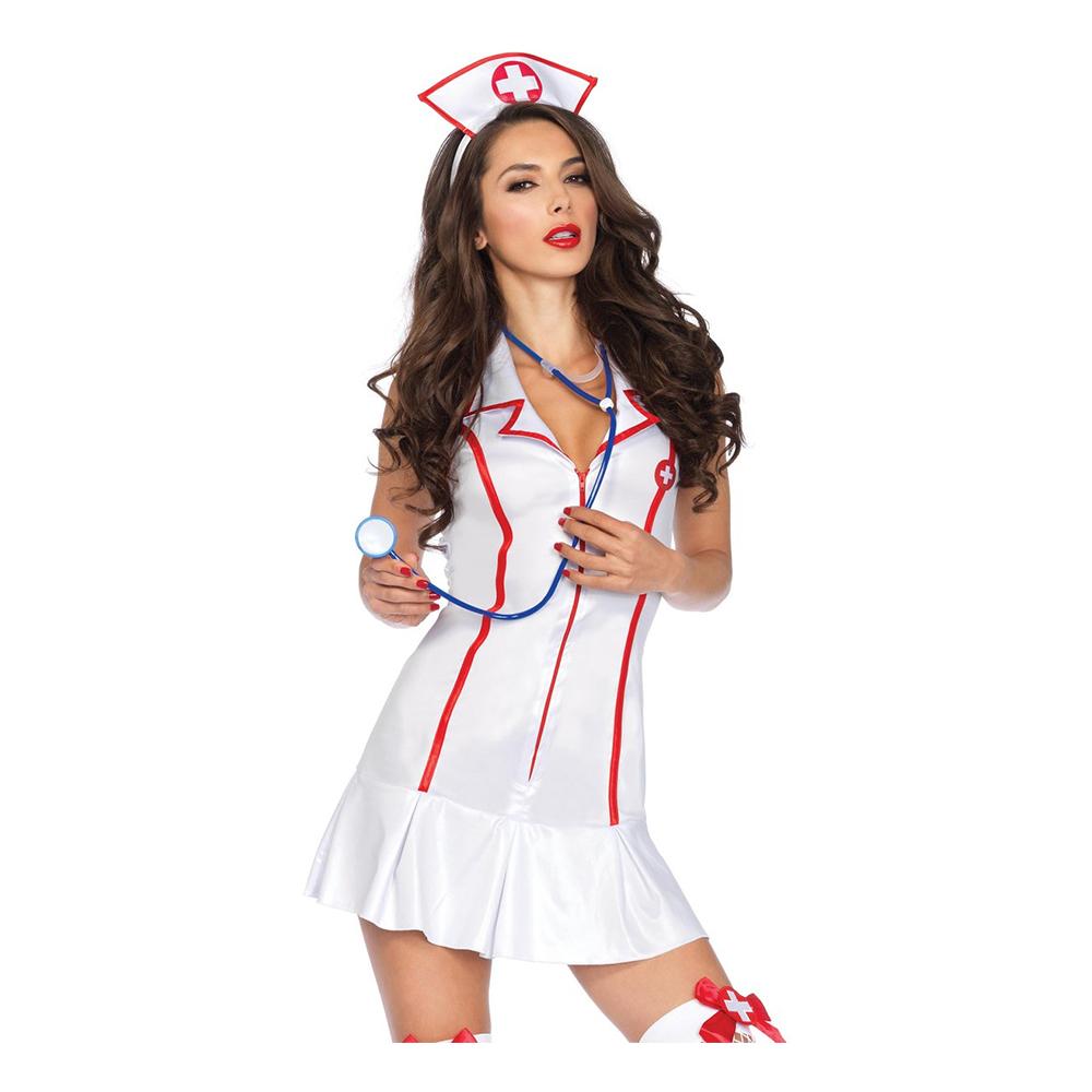 Söt Sjuksköterska Deluxe Maskeraddräkt - Small/Medium