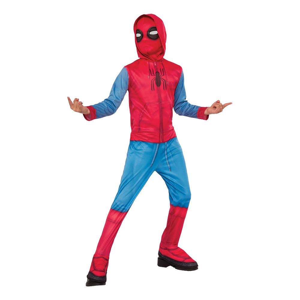 Spider-Man med Hoodie Barn Maskeraddräkt - Small 4f03a0fedbe47
