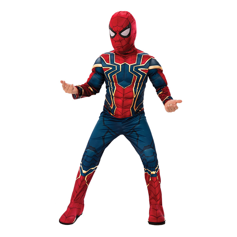 Spiderman Deluxe Infinity War Barn Maskeraddräkt - Small