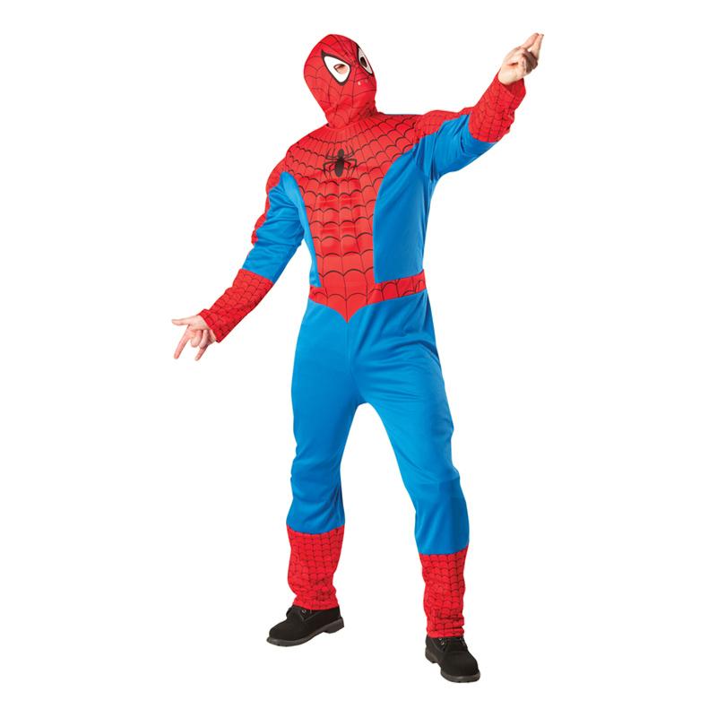 Spiderman med Muskler Maskeraddräkt - Standard