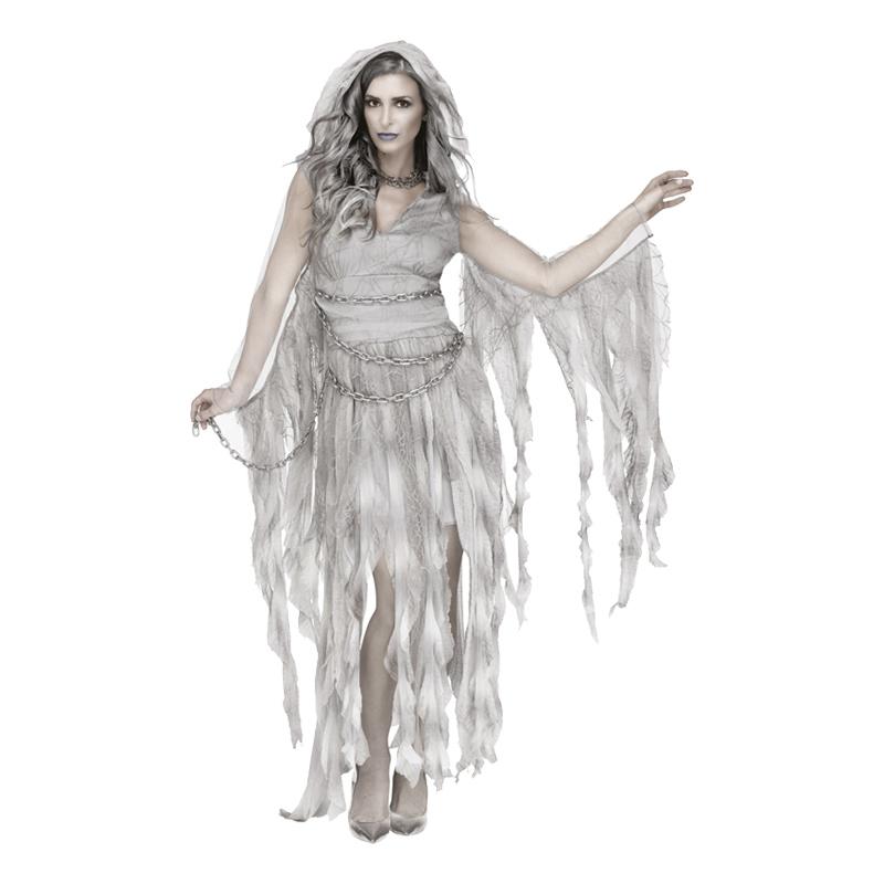 Spökklänning med Kedjor Maskeraddräkt - Medium/Large