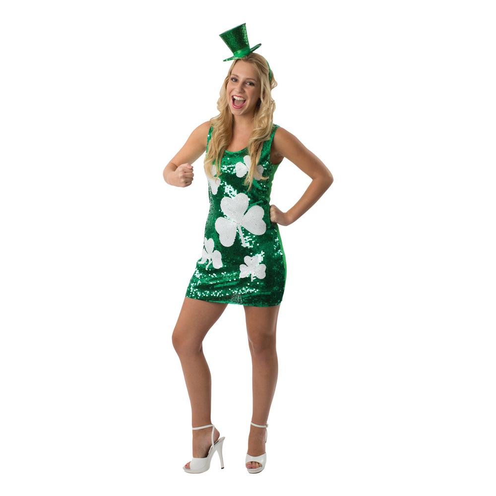 St. Patricks Klänning Maskeraddräkt - Small/Medium