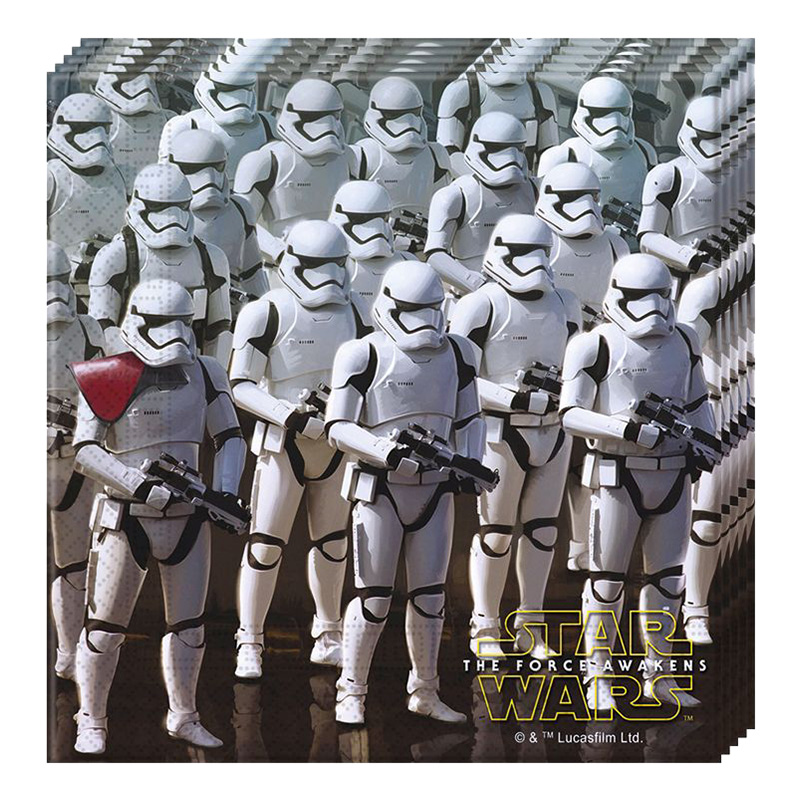 Star Wars The Force Awakens servetter - 20-pack