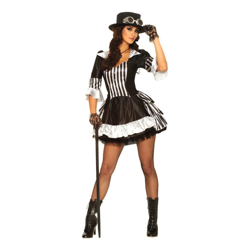 Steampunk Showgirl Maskeraddräkt - Small