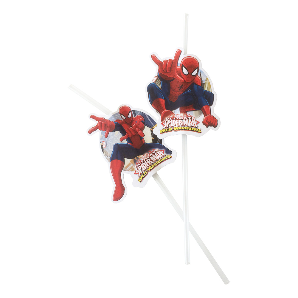 Sugrör Spiderman - 6-pack