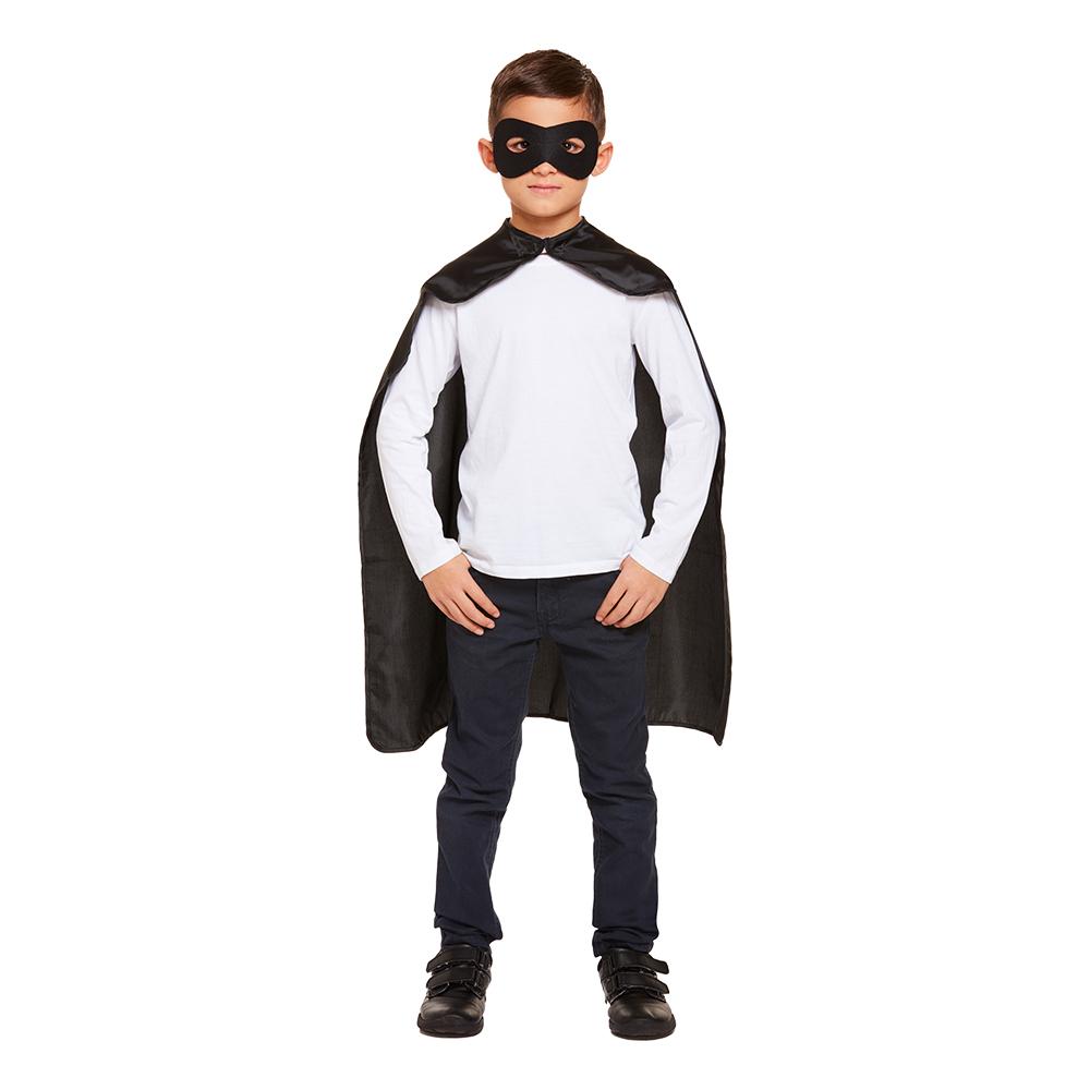 Superhjälte Kit för Barn Svart