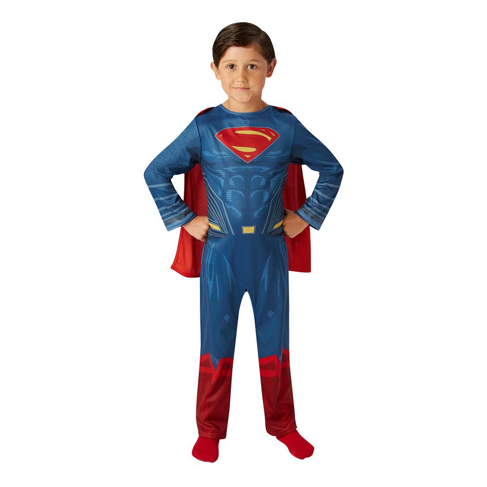Superman Justice League med Muskler Barn Maskeraddräkt - Small