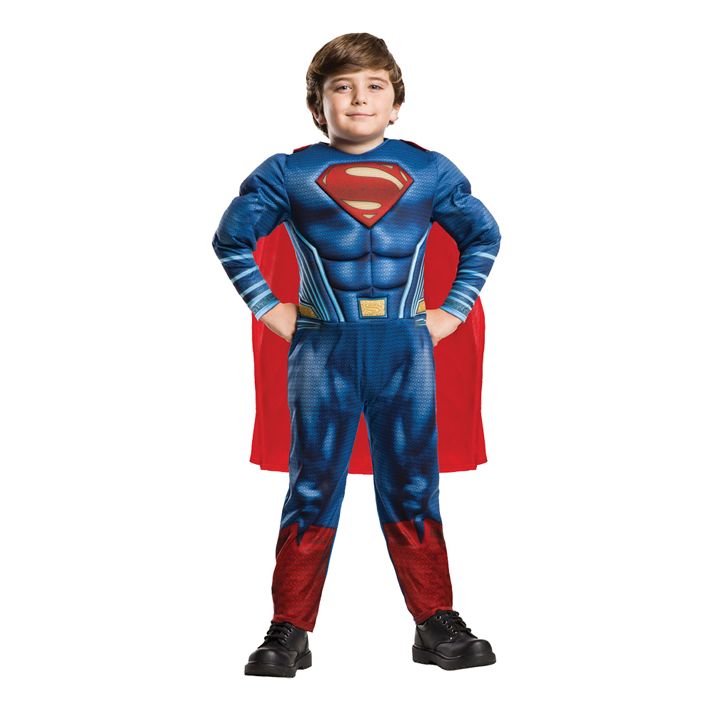 Superman Justice League Deluxe Barn Maskeraddräkt - Small