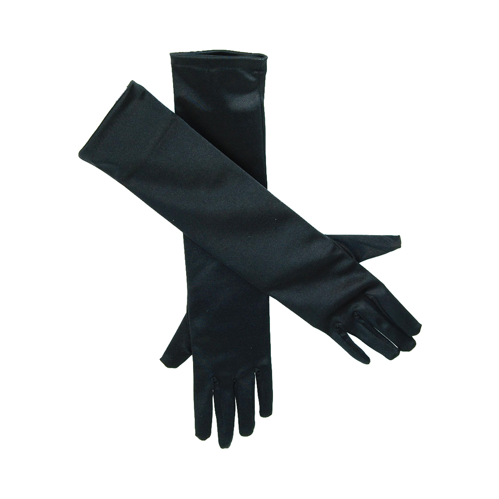 Svarta Handskar Långa Deluxe