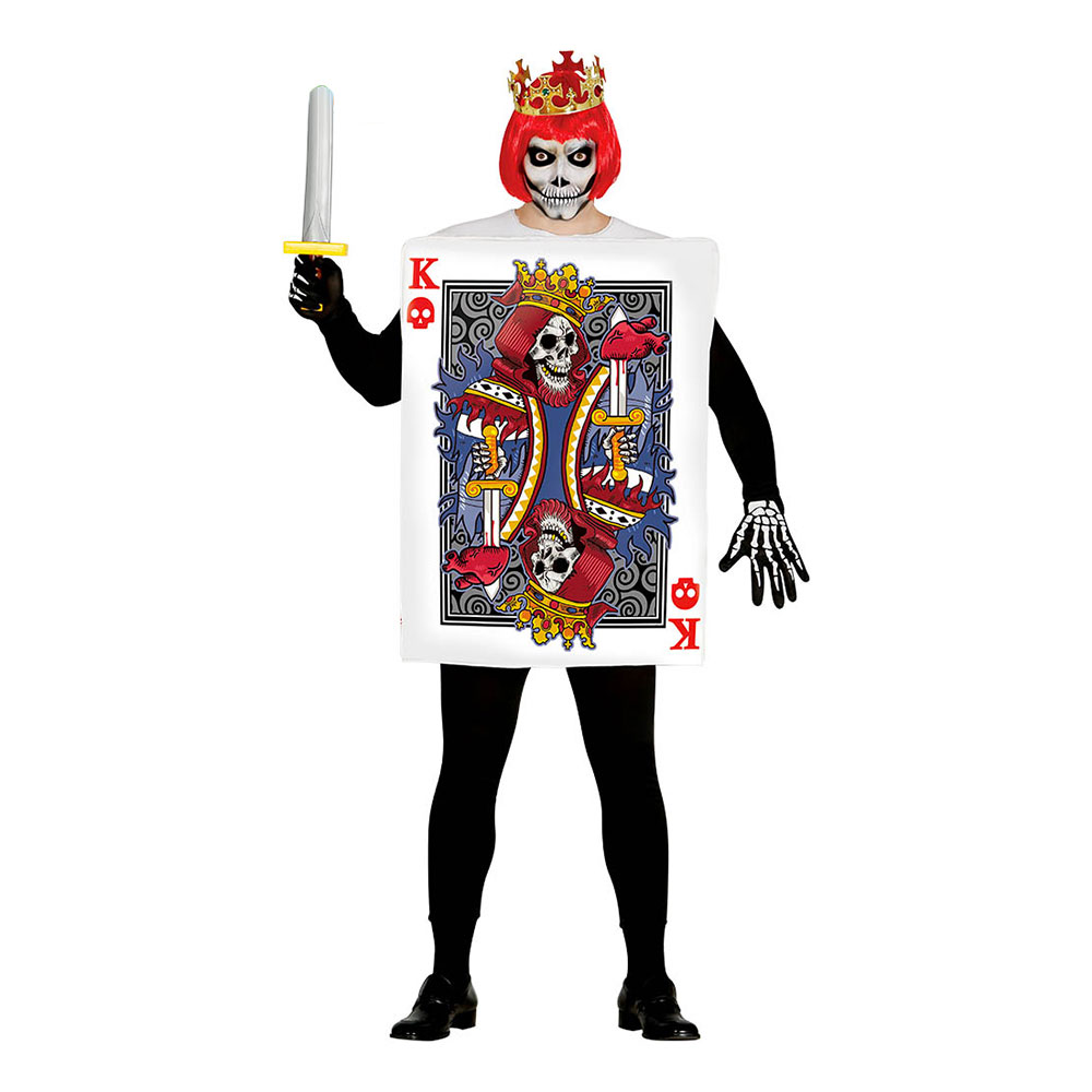 Tarotkort Kung Maskeraddräkt - One size