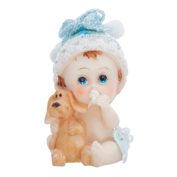 Tårtfigur Bebis med Hund