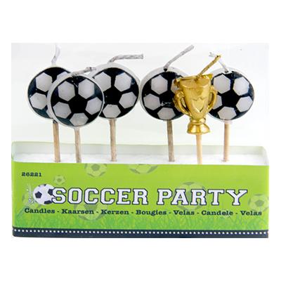 Tårtljus Fotboll - 6-pack