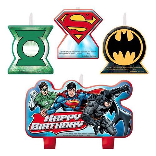 Tårtljus Justice League - 4-pack