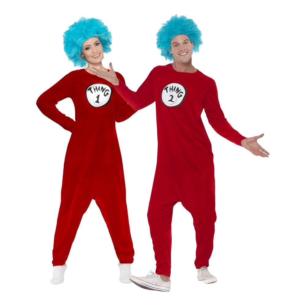 Thing 1 Jumpsuit Maskeraddräkt - Medium