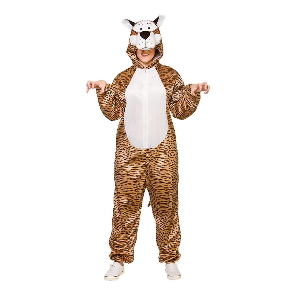 Tiger Jumpsuit Maskeraddräkt - One size – Var klok och jämför pris på  Maskeradkläder för tjejer på vår site! 19f3c2393fc02