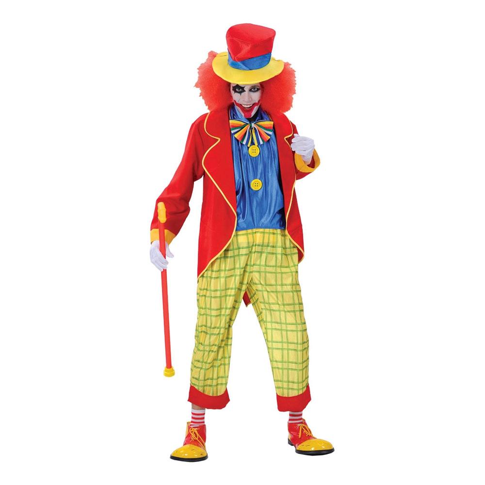 Tokig Clown Maskeraddräkt - Large