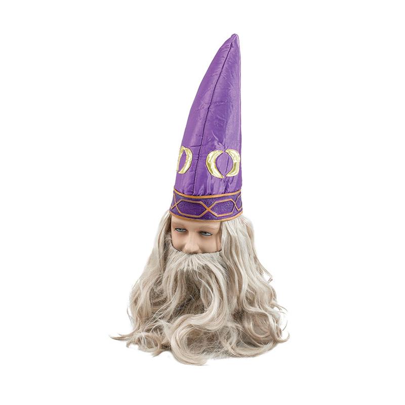 Trollkarlshatt med Hår - One size