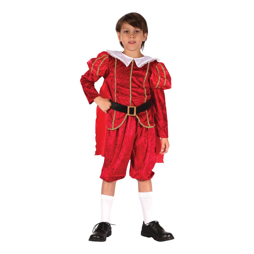 Tudorprins Barn Maskeraddräkt - Small