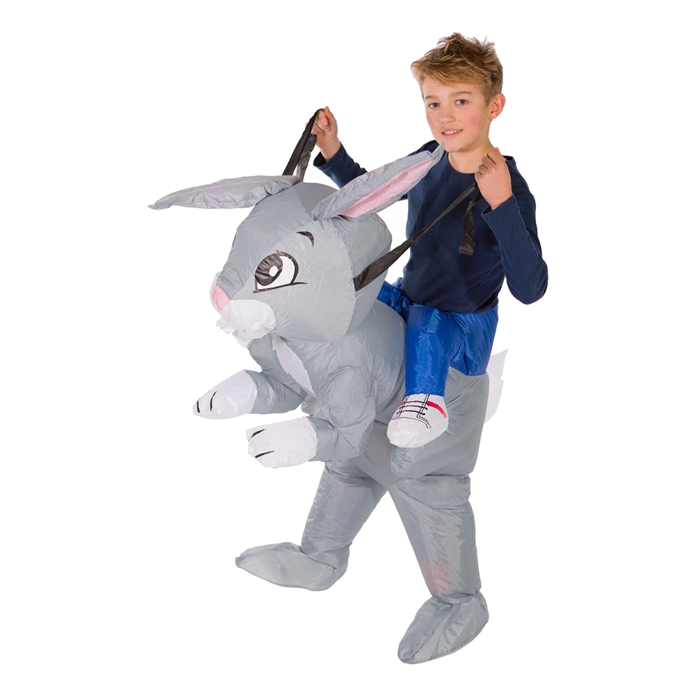 Uppblåsbar Kanin Barn Maskeraddräkt - One size