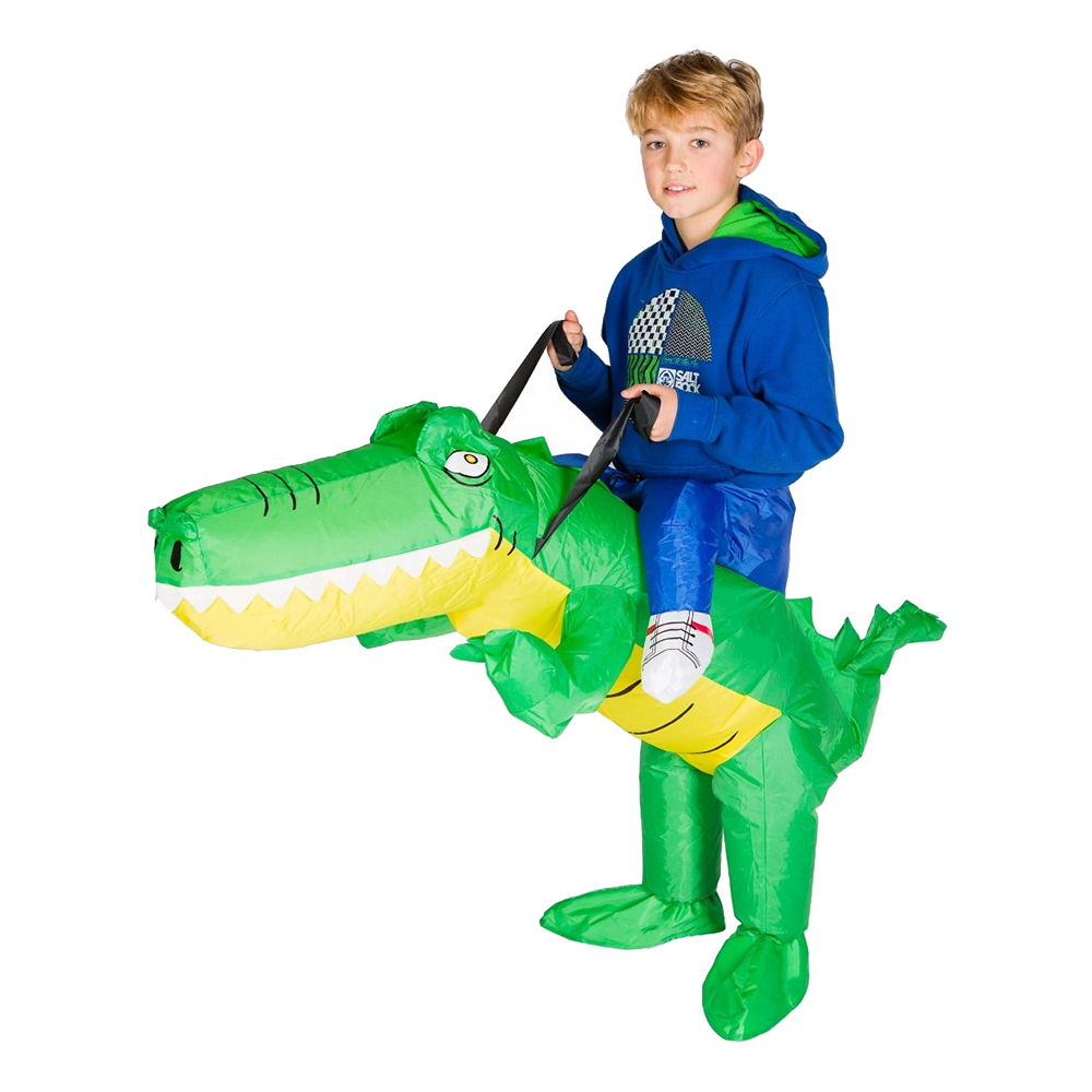 Uppblåsbar Krokodil Barn Maskeraddräkt - One size