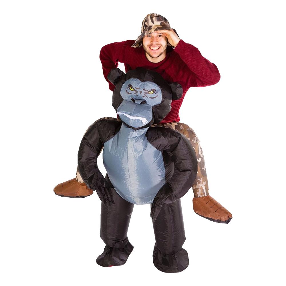 Uppblåsbar Ridande Gorilla Maskeraddräkt