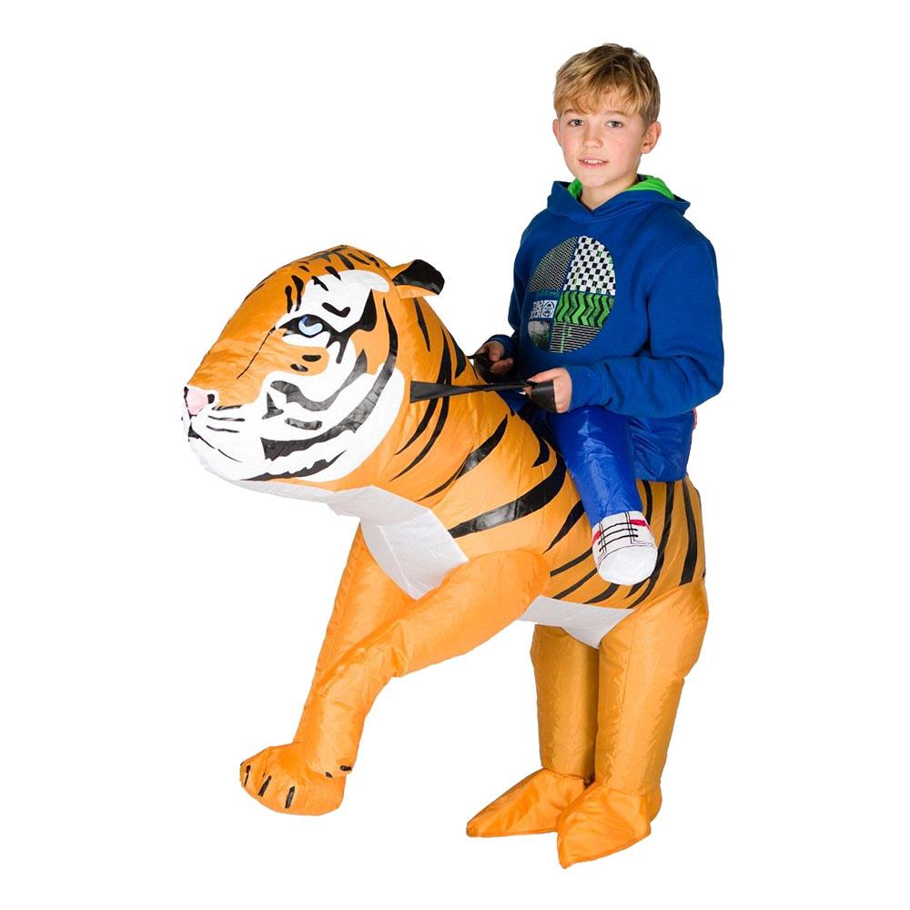 Uppblåsbar Tiger Barn Maskeraddräkt - One size