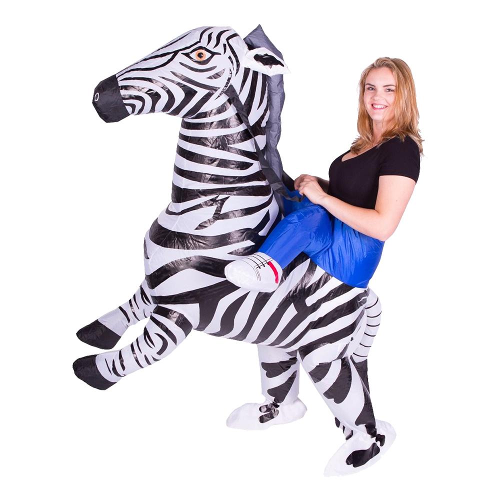 Maskeradkläder Vuxna - Uppblåsbar Zebra