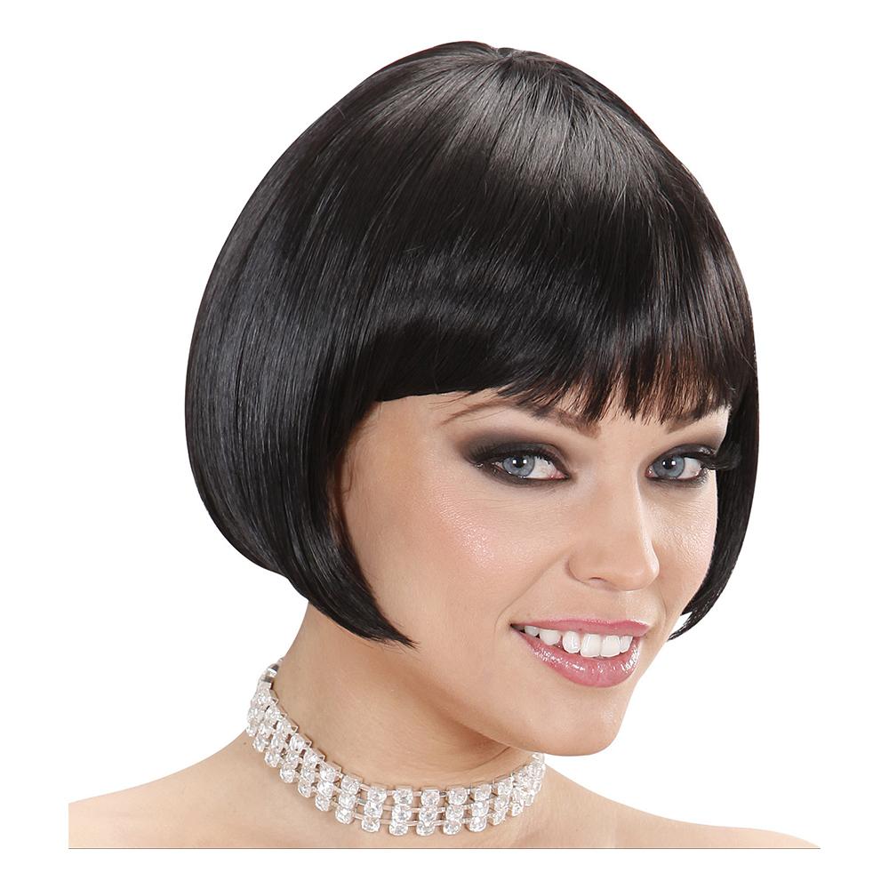 Valentina Svart Deluxe Peruk - One size