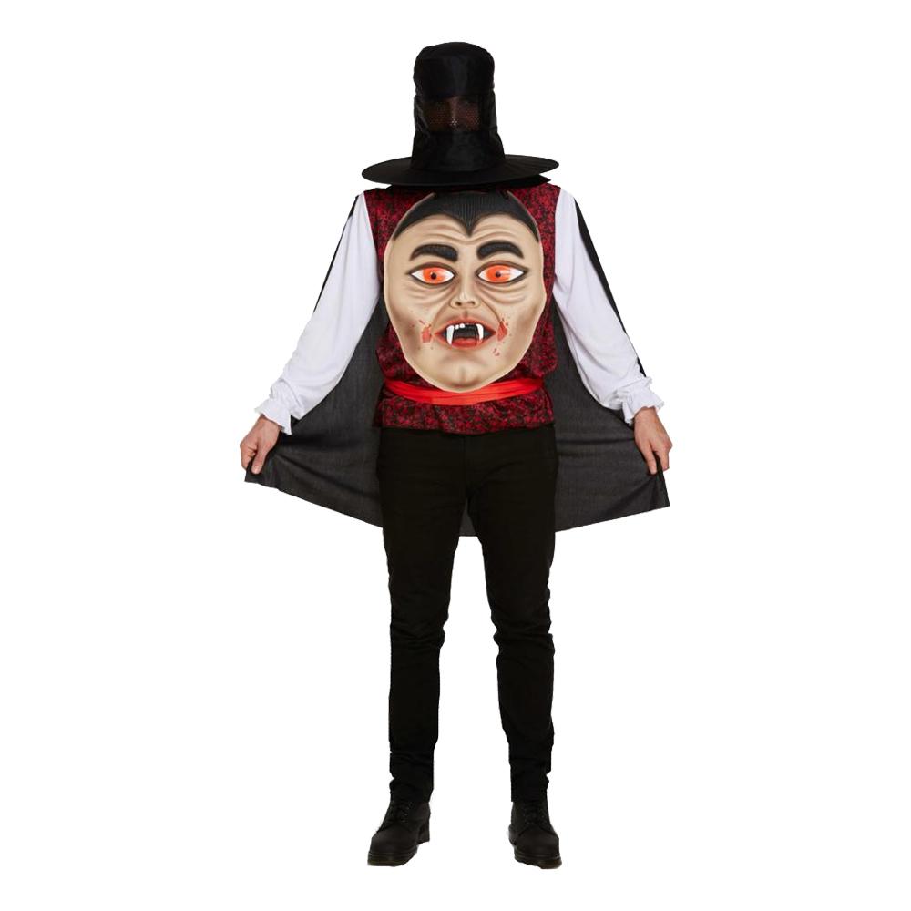Vampyr med Jätteansikte Maskeraddräkt - One size