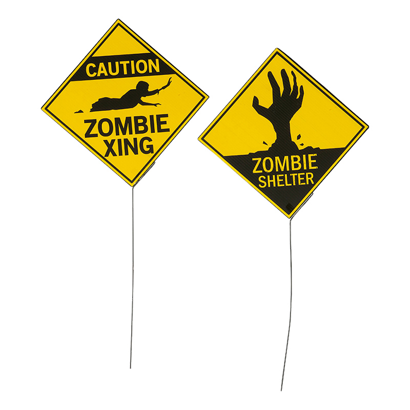 Varningsskyltar Zombie
