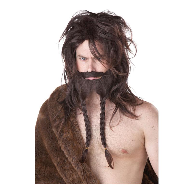 Viking Brun Perukset - One size