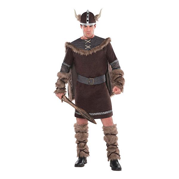 Viking Krigare Brun Maskeraddräkt - Medium/Large