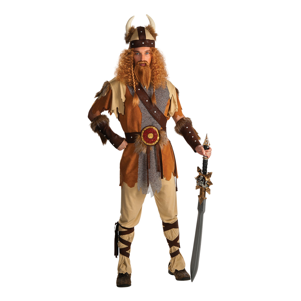 Viking Krigare Maskeraddräkt - One size
