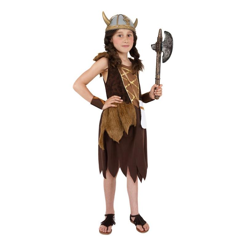 Vikingaflicka Barn Maskeraddräkt - Medium