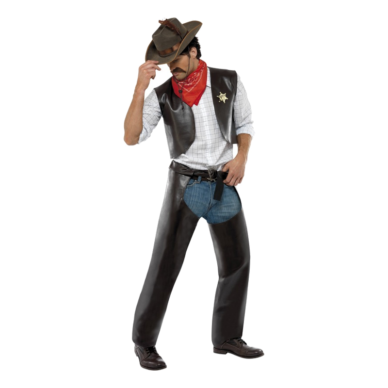 Village People Cowboy Maskeraddräkt - One size