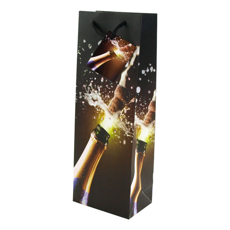 Presentpåse Flaska Champagnekork