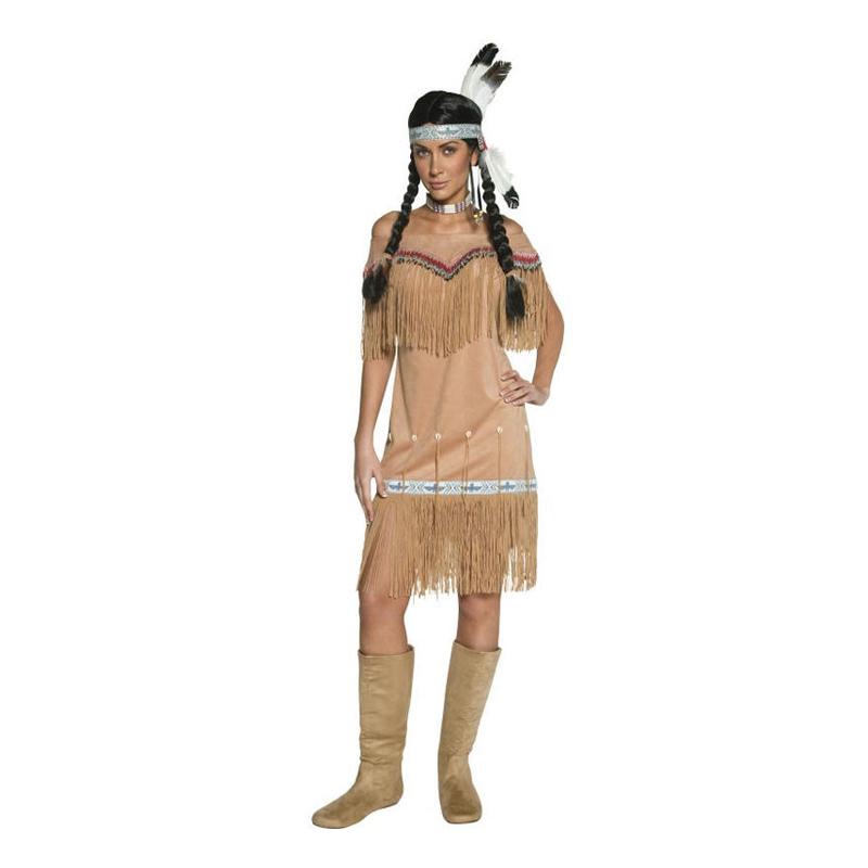 Western Indiantjej Maskeraddräkt - Small