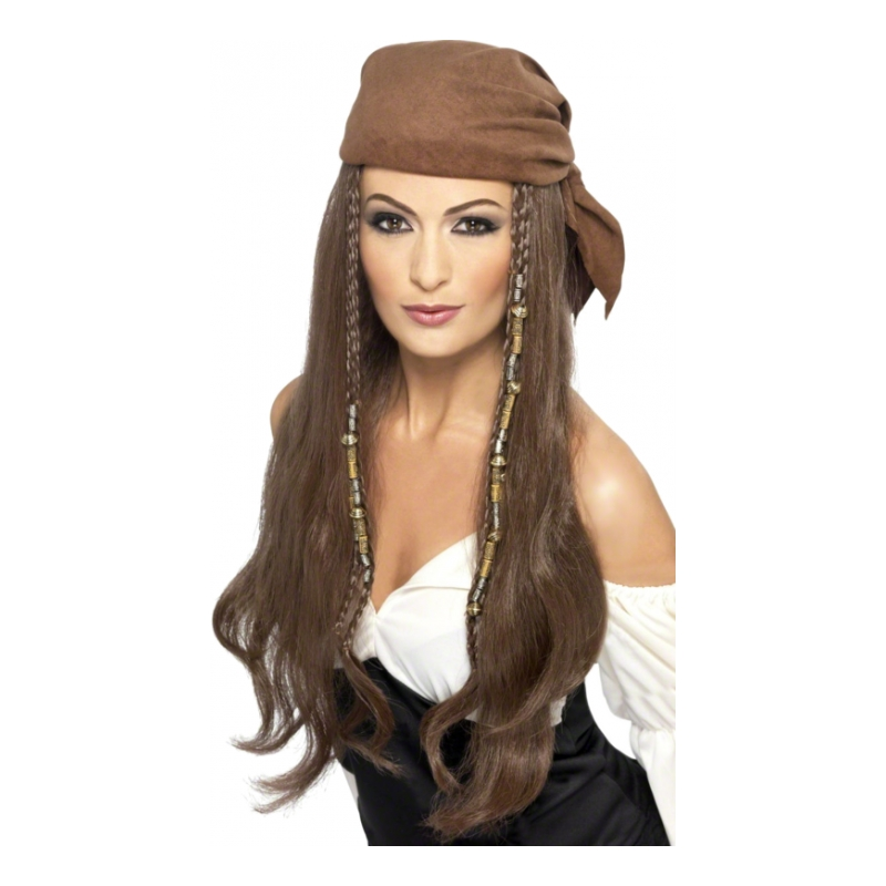Kvinnlig Piratperuk med Bandana - One size