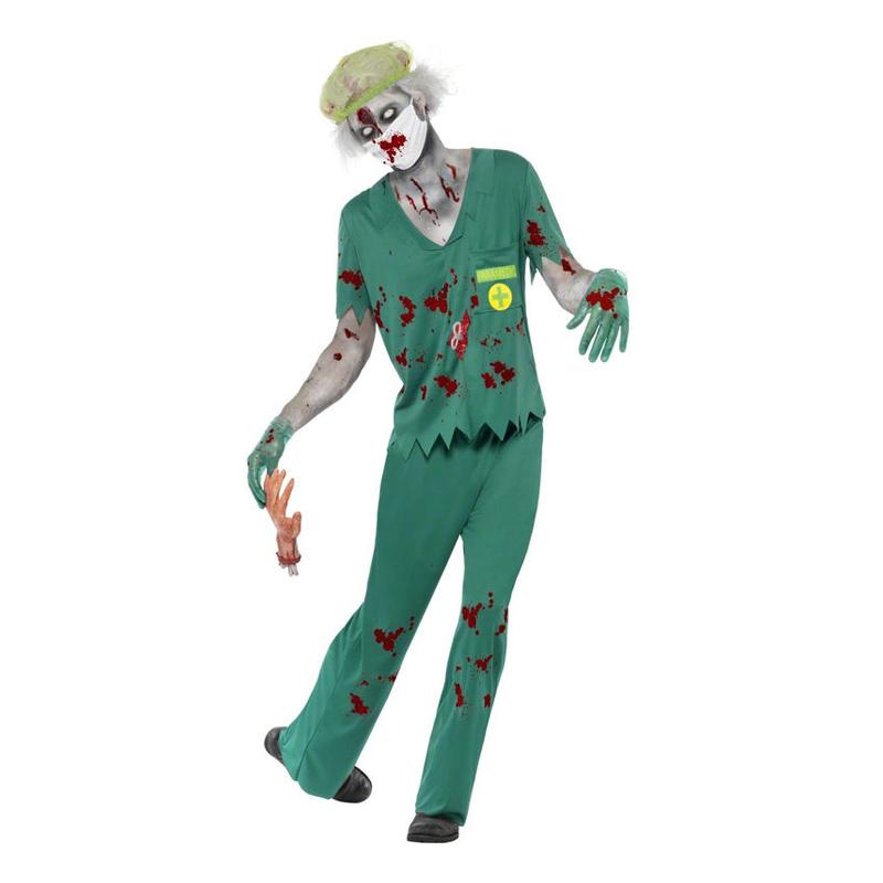Zombie Ambulansförare Maskeraddräkt - Medium