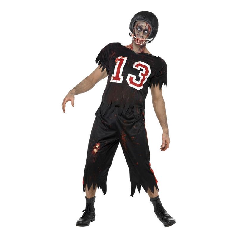 Zombie Amerikansk Fotbollsspelare Maskeraddräkt - Medium
