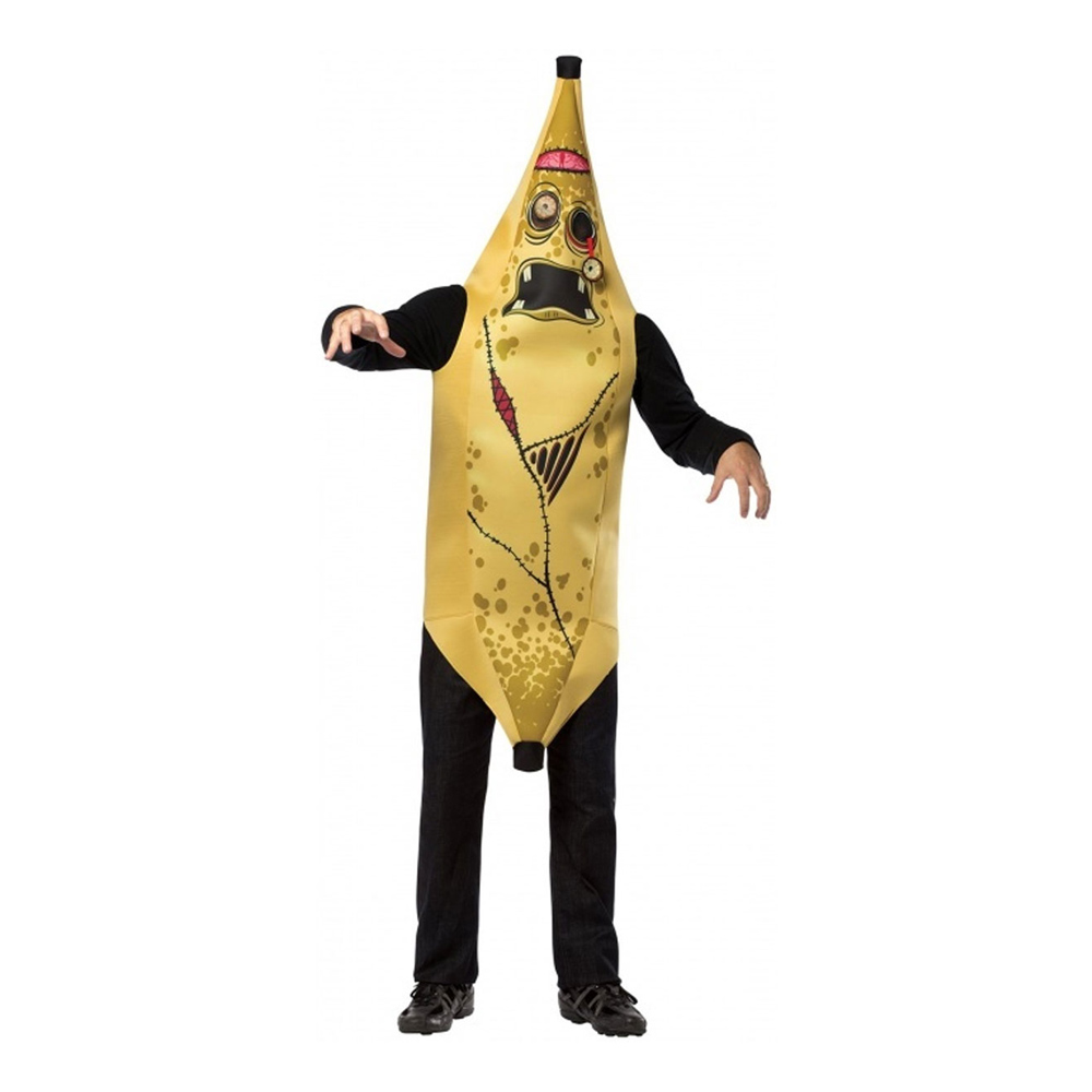 Zombie Banan Maskeraddräkt - One size