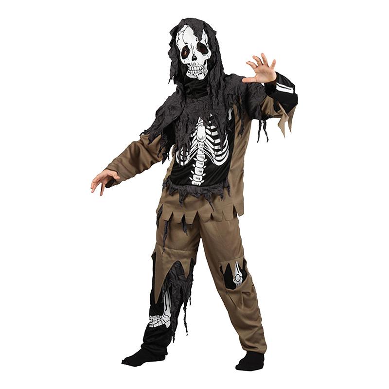 Maskeradkläder Vuxna - Zombieskelett   - Medium