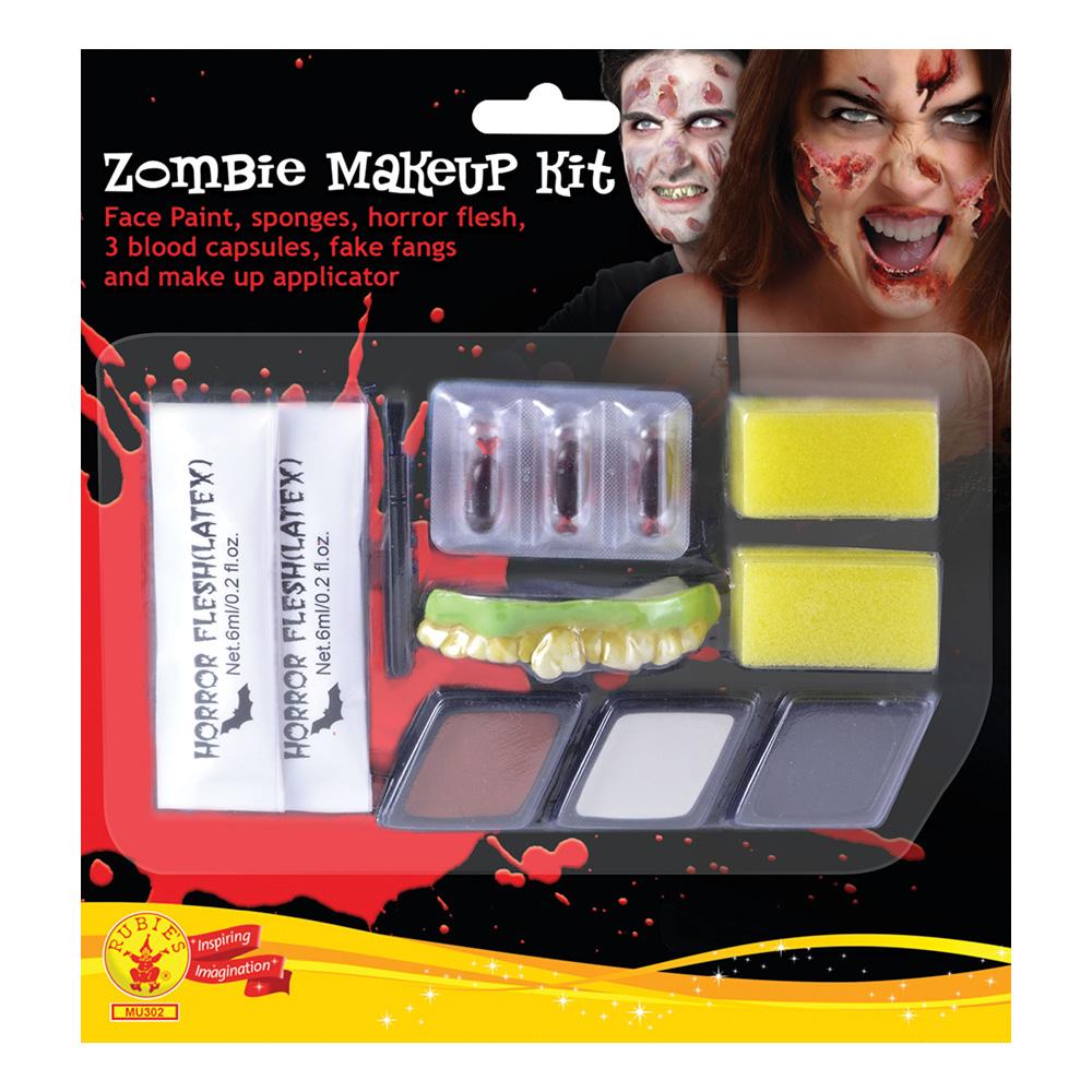 Zombie Man Makeup Kit med Latex
