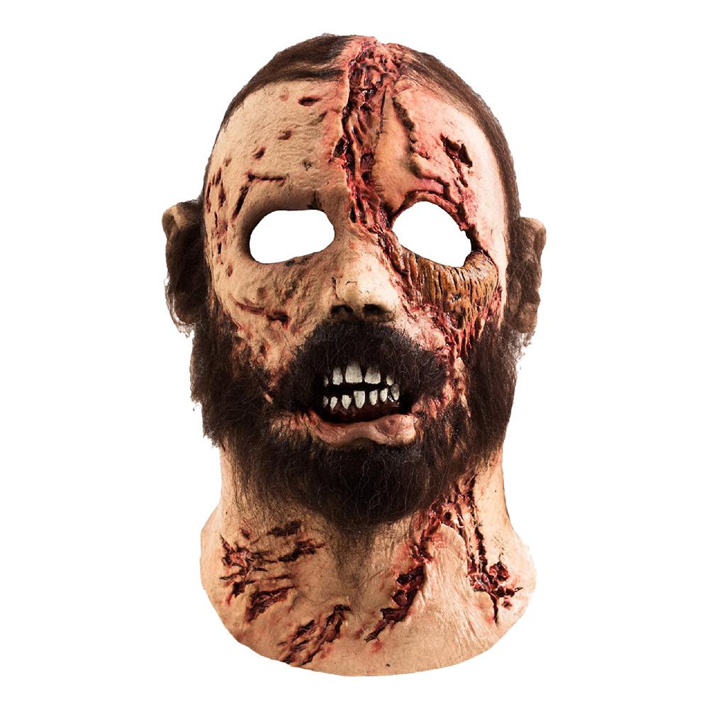 Zombie med Skägg Mask - One size
