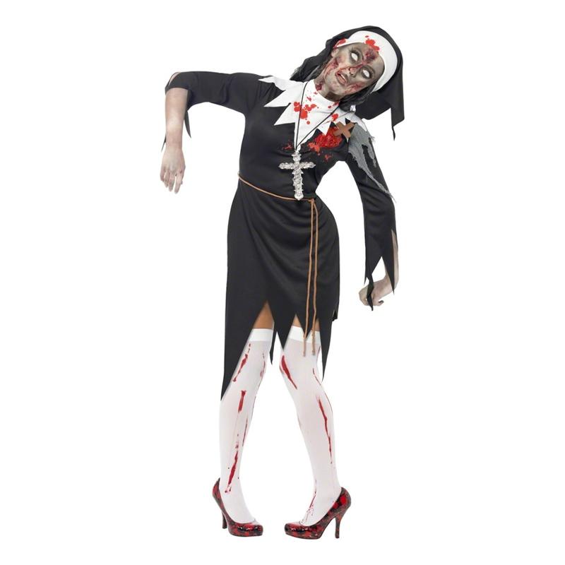 Zombie Nunna Maskeraddräkt - Small