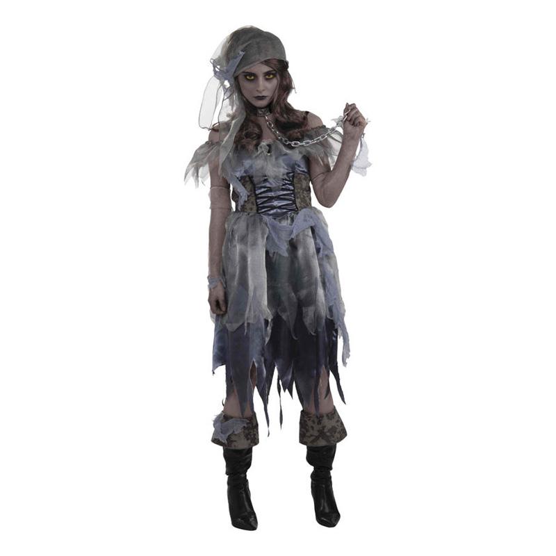 Zombie Pirat Dam Maskeraddräkt - One size