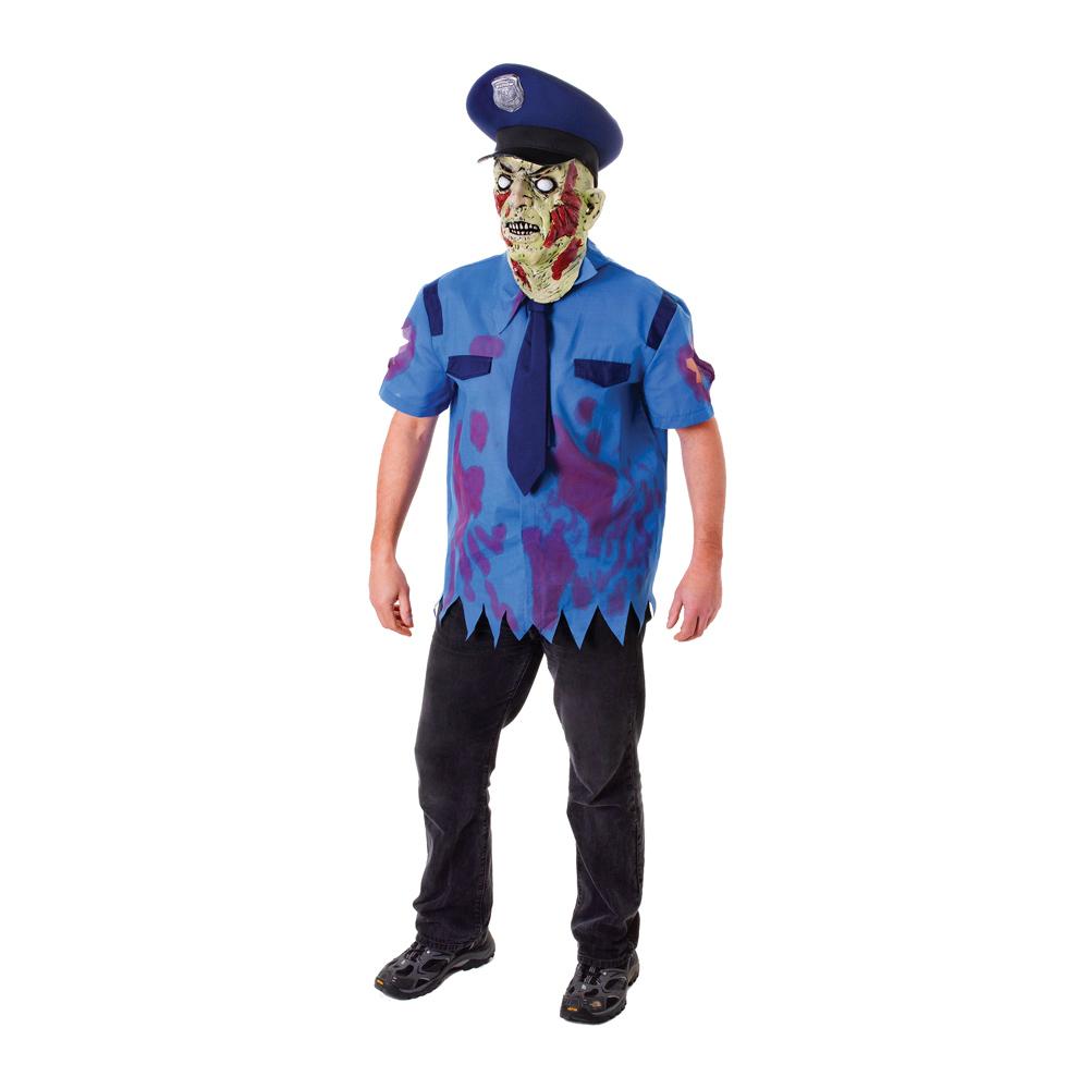 Zombie Polis Maskeraddräkt - One size