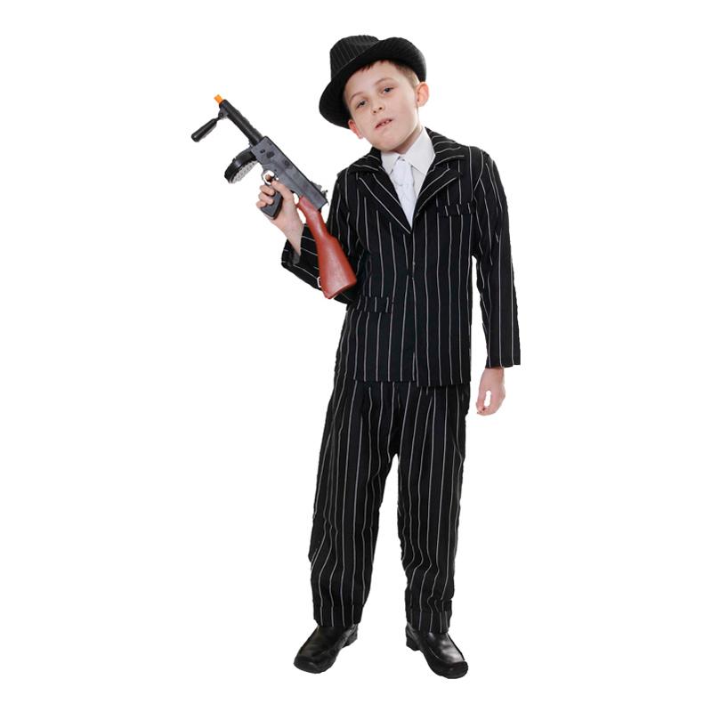 20-tals Gangster Barn Maskeraddräkt